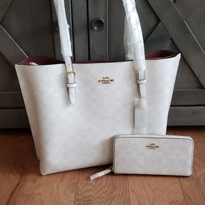 Large purse and wallet set